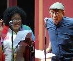 """Aurora Basnuevo (Estervina) y Mario Limonta (Sandalio el Bola'ó) dos de los intérpretes de """"Alegrías de Sobremesa"""". Foto tomada de Habana Insomne."""