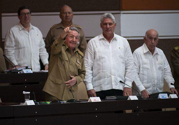 El Presidente cubano Raúl Castro Ruz en el plenario de la Asamblea Nacional.Foto: Irene Pérez/ Cubadebate.