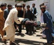 Ataque suicida a un banco afgano. Foto: AFP.