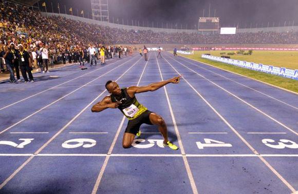 Bolt el récord mundial de los 100 metros (9,58) y de los 200 metros (19,19). Foto: AFP.