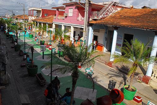 El boulevard de la ciudad de Consolación del Sur. Foto: Guerrillero