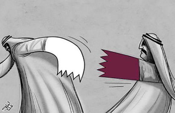 Caricatura sobre la crisis diplomática que atraviesa Qatar. Autor: Osama Hajjaj.
