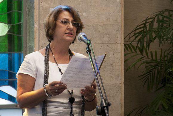 Alina Balseiro Gutiérrez, presidenta de la Comisión Nacional Electoral. Foto: Irene Pérez/ Cubadebate.