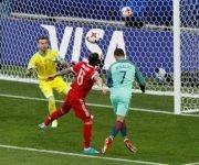 En el minuto 8', Cristiano Ronaldo anotó el único gol del partido Portugal-Rusia de la Copa Confederaciones. Foto: Reuters.