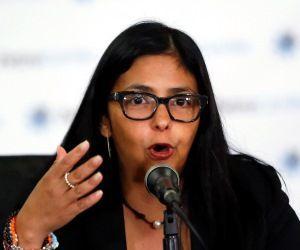 Ministra de Relaciones Exteriores de Venezuela, Delcy Rodriguez. Foto: REUTERS.