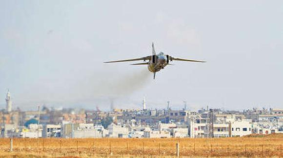 Un caza MiG-23 de la Fuerza Aérea de Siria. Foto: Sputnik.