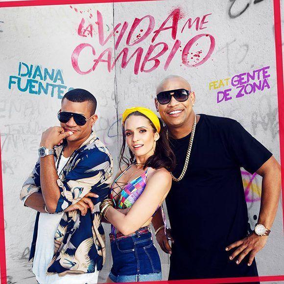 """Diana Fuentes estrena """" La vida me cambió"""" junto a Gente de Zona. Foto: @DianaFuentesOficial/ Facebook."""