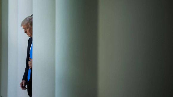 La aburrida soledad de Trump en la Casa Blanca. Foto: Reuters.