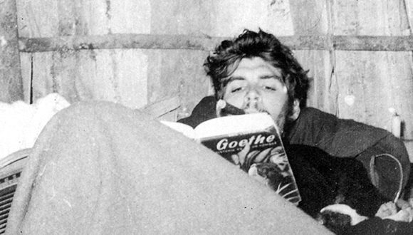 El Che, un lector interminable. Foto: Archivo.