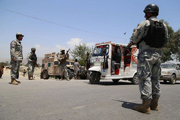 Ocho guardias afganos murieron en una emboscada. Foto: EFE.