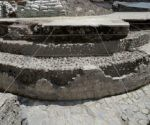 Las excavaciones revelan una sección de lo que fue la base de un templo de forma circular. Foto: Tomada de http://aristeguinoticias.com