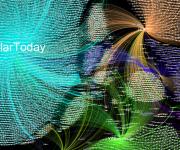 Gráfico de red generado por la aplicación Gephi de la acción en Twitter de Dolar Today.