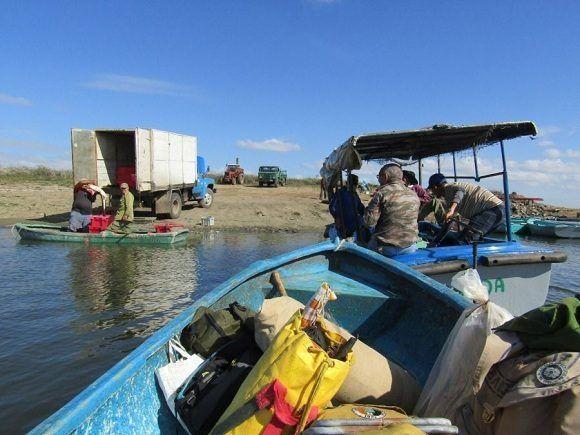 El bajo nivel de las aguas en la presa Zaza resultó determinante. Foto: Orlando Álvarez.