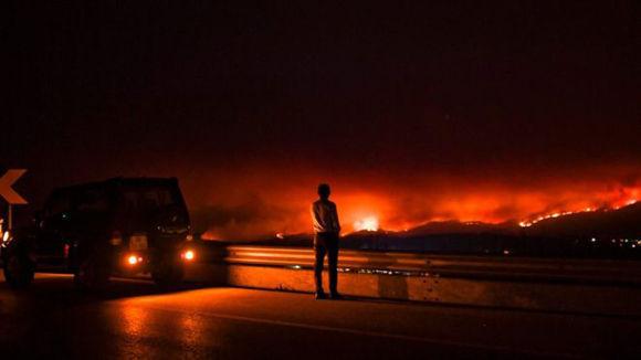 """El primer ministro de Portugal declaró que era """"la más grande tragedia que hemos visto en años recientes"""". Foto: AFP."""