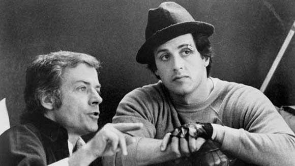 Avildsen, junto a Sylvester Stallone. Foto: Variety.