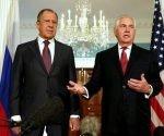 El canciller ruso, Serguei Lavrov, y el secretario de Estado norteamericano, Rex Tillerson. Foto: Reuters