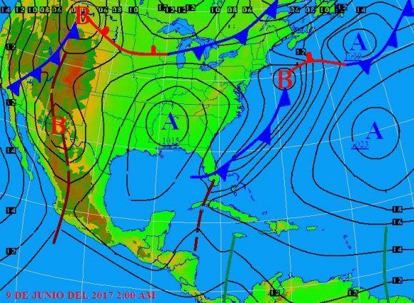 La persistencia de la situación mantendrá alta la probabilidad de lluvias este viernes desde Pinar del Río hasta Matanzas, incluido el municipio especial de Isla de la Juventud