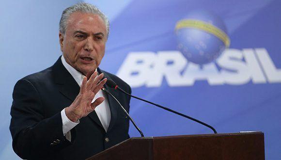 El principal fiscal federal de Brasil denunció formalmente a Michel Temer. Foto: @teteSUR/ Twitter.