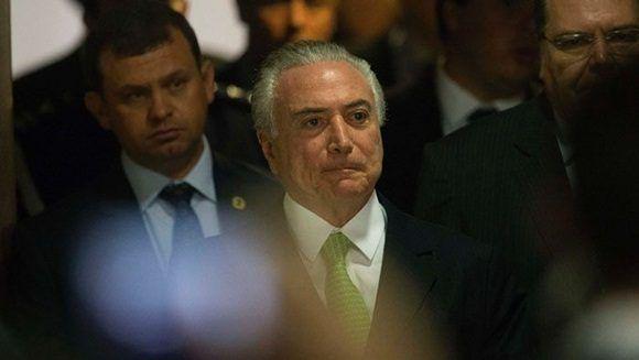 Michel Temer asumió el poder tras el golpe parlamentario a Dilma Rousseff. Foto EFE