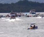 Los datos preliminares apuntan a que más de 150 personas estaban a bordo de la embarcación. Foto: Xeu.