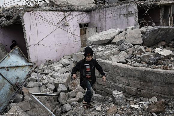 """""""Unos cinco millones precisan de ayuda humanitaria"""", sostiene un informe de la Unicef."""