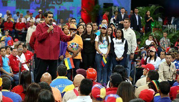 Maduro este martes en el Poliedro de Caracas. Foto: AVN.
