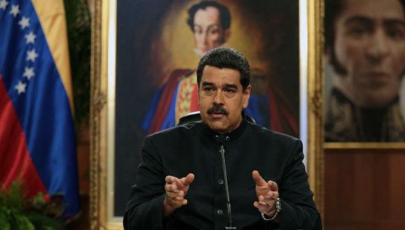 Maduro en el palacio de Miraflores. Foto: @PresidencialVen/ Twitter.