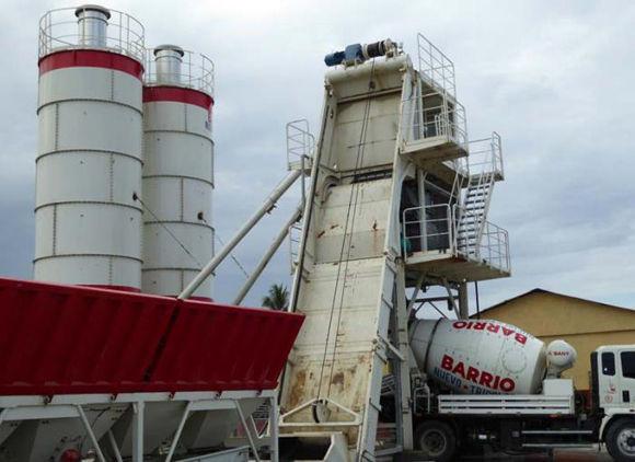 La nueva planta elaboradora de hormigón de Baracoa. Foto: Foto: Jorge Luis Merencio/ Granma.