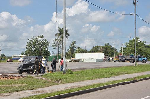 Rehabilitación de la Plaza principal de Pinar del Río. Foto: Pedro Paredes / Guerrillero