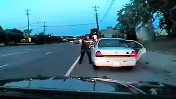 Captura de pantalla del video difundido por la policía.