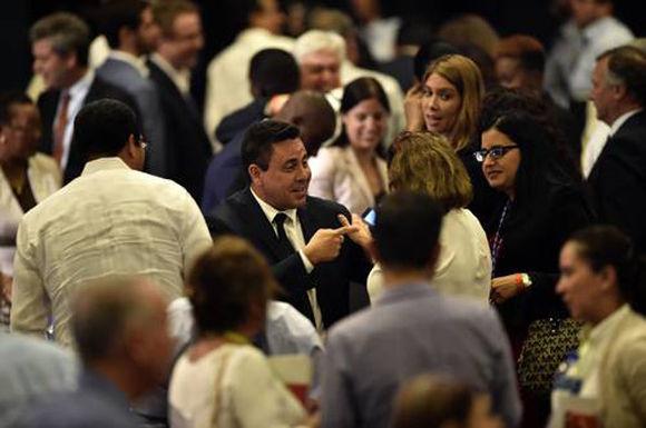 Samuel Moncada durante la ceremonia de clausura de la 47 Asamblea General de la Organización de los Estados Americanos, en Cancún. Foto: AFP.
