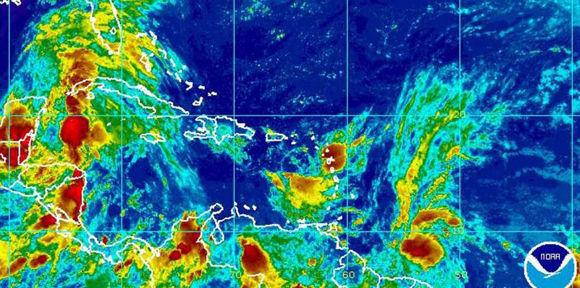 Hay un aviso de tormenta tropical para Barbados, San Vicente y las Granadinas, Trinidad y Tobago, así como Granada, según el CNH. Foto: NOAA.
