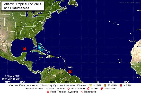 El NOAA da seguimiento a un segundo disturbio con potencial desarrollo ciclónico que podría convertirse en tormenta tropical en las próximas horas.
