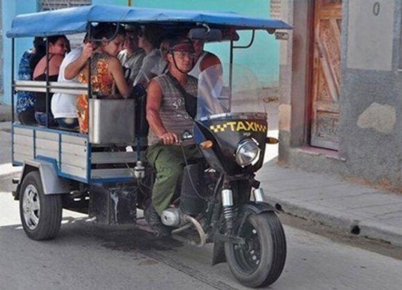 Una opción más de transportación en Holguín, las motos triciclos. Foto: Ahora.cu.