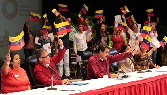 Maduro llama al pueblo a enfrentar conspiración contra el proceso constituyente. Foto: Correo del Orinoco.