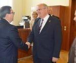 El Vicecanciller Federal de Austria recibe al Ministro de Relaciones Exteriores de Cuba. Foto: Embacuba Austria.