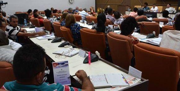 Comisión de Agroalimentaria, durante los debates, paso previo al Noveno Período Ordinario de Sesiones de la Octava Legislatura de laAsamblea Nacional del Poder Popular (ANPP), en el Palacio de Convenciones, en La Habana, el 10 de julio de 2017.  ACN FOTO/Marcelino VÁZQUEZ HERNÁNDEZ/sdl