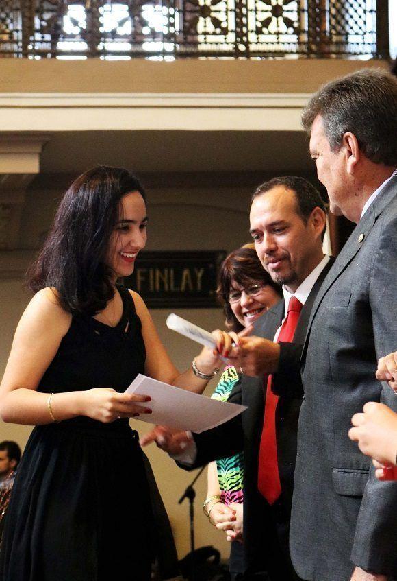 Blanca Elizabeth Valdés Sarría, mejor graduada de Comunicación Social. Foto: Darío Gabriel Sánchez García.
