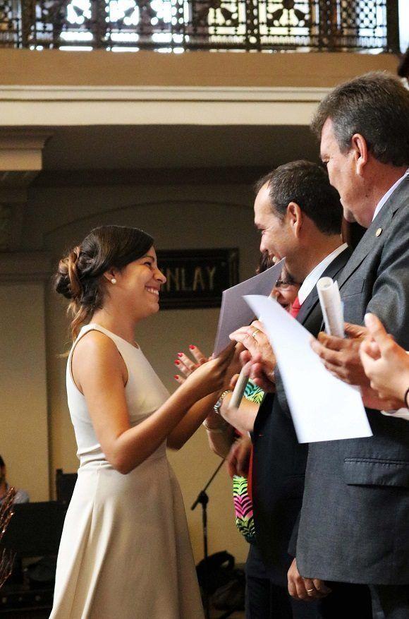 Talía Ramos González, mejor graduada de Ciencias de la Información. Foto: Darío Gabriel Sánchez García.
