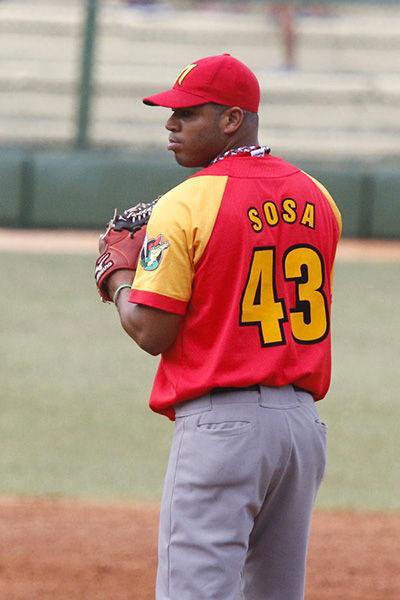 Adrián Sosa cargó con el revés. Foto: Federación Cubana de Béisbol.