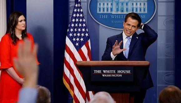El ex Director de Comunicaciones de la Casa Blanca, Anthony Scaramucci, estuvo tan solo 10 días en el cargo. Foto: Reuters.