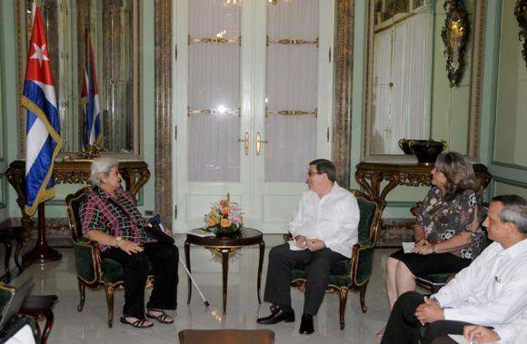 Recibe canciller cubano a experta independiente de la ONU sobre derechos humanos