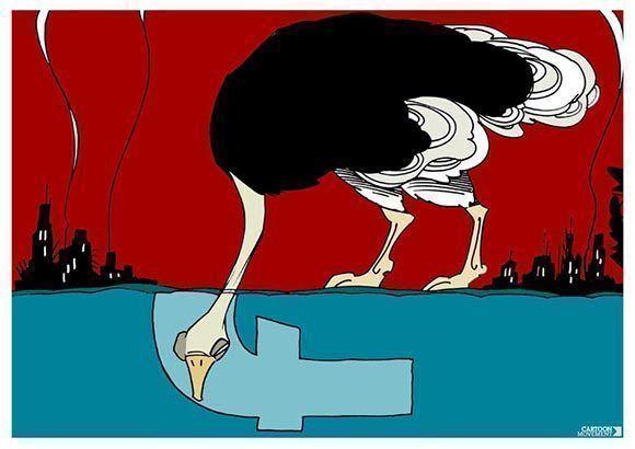 """""""Facebook: Lugar donde siempre es posible encontrar una opinión favorable seguida de su contraria"""". Foto: Archivo."""