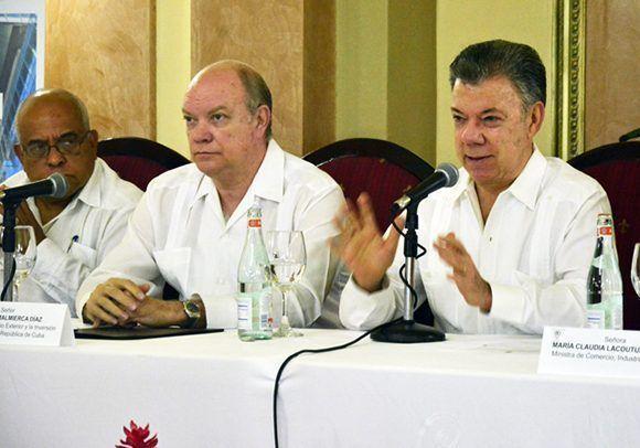 """Juan Manuel Santos sobre el apoyo de Cuba al proceso de paz en Colombia: """"Siempre tendremos a Cuba en nuestros corazones por el apoyo que no dieron en todo sentido y momento"""". Foto: Roberto Garaycoa/ Cubadebate."""