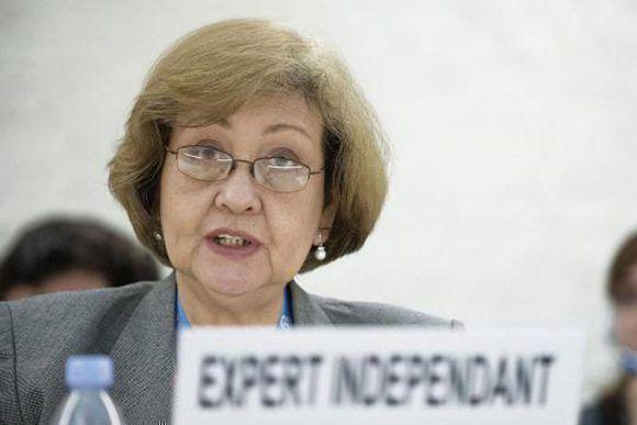 La Experta Independiente sobre derechos humanos y solidaridad internacional de la Organización de Naciones Unidas, Sra. Virginia Dandan. Foto: tomada de CubaMinrex.