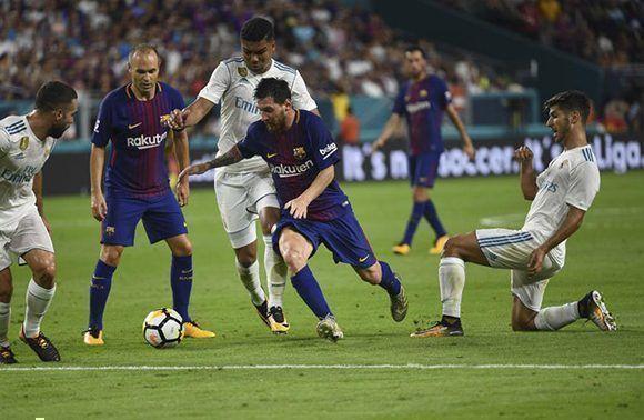 Lionel Messi adelantó a su equipo con una gran jugada apenas comenzar el partido. Foto: Manel Montilla/ Mundo Deportivo.