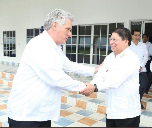 Díaz-Canel es recibido en Nicaragua. Foto: @@PensarAmericas.