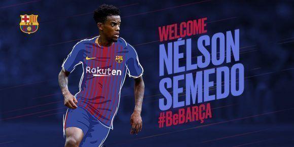 La cuenta del FC Barcelona en Twitter le dio así la bienvenida al futbolista.