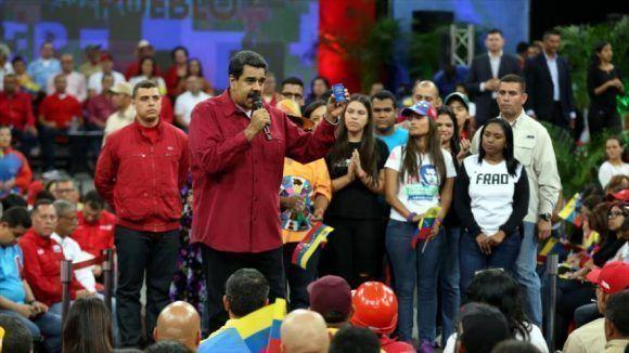 Nicolás Maduro en un acto en Caracas. Foto tomada de HispanTV.