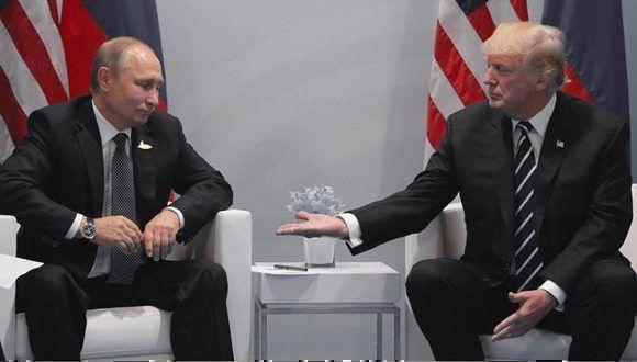 Putin y Trump en la cumbre del G-20. Foto: Archivo